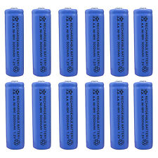 12 pcs AA 3000mAh Ni-MH 1.2V Rechargeable Battery Blue For Toy RC Solar Light