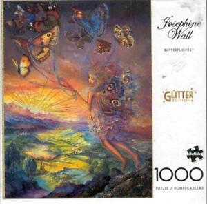 Josephine Wall 1000Pc Glitter Edition Jigsaw Puzzle Butterflights NIB