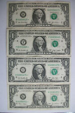 LOT OF 4 ONE DOLLAR STAR NOTES, LOW 5-6 DIGIT NUMBERS
