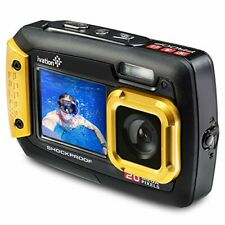 Ivation 20MP Underwater Waterproof Shockproof Digital Camera & Video Camera w/Du