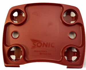 New Sonic Drive In Carhop Tray Item No 2009 Serving Tray Four Drink Cup Holders