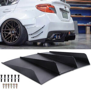 For 2015-2018 Subaru WRX STI Rear Diffuser Bumper 4 Fins Spoiler Lower Splitter