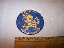 1975 MOORESVILLE INDIANA Pinback Button Pin FIGHTIN PIONEERS
