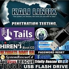 10-in-1 NEWEST Live USB 16GB ethical hacking Kali Linux 2017 + Computer Repair T