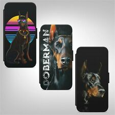 Doberman Dog Animal WALLET FLIP PHONE CASE COVER for IPHONE SAMSUNG HUAWEI