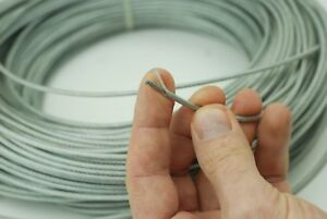3 to 5 mm GALVANIZED STEEL WIRE ROPE METAL CABLE 7X7 PVC COATED PLASTIC COVER