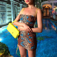 Leopard Backless Sexy Bodycon Mini Dresses SumEBr WoEBn Party Slim Streetwea gt