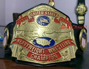 NWA United States Championship Belt 4mm Zinc Plated Adult Size(Fast Shipping)