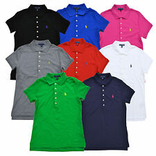 Ralph Lauren Shirt Womens Polo Classic Fit Interlock Pony Logo Xs S M L Xl