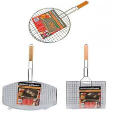 BBQ Collection Outdoor Cooking Barbecue Metal Grill Grilling Meat Basket Rack