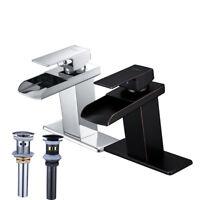 BWE  Waterfall Bathroom Faucet Single Handle Deck Mount Basin Sink Mixer Tap