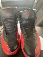 Nike Air Jordan 12 Flu Game Size 12 XII Black Red Bred 130690-061