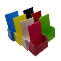 Colour Plastic Leaflet Holder Menu Counter Dispenser Business Card Holder DL A5