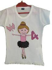GeburtstagsShirt/Namensshirt Applikation Ballerina Name Zahl ab Gr.92, NEU