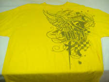 New Mens XXL 2XL Lost Yellow 100% Cotton Short Sleeve Yellow T Shirt $24