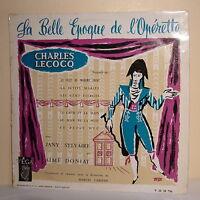 33T Charles LECOCQ SYLVAIRE DONIAT CARIVEN Disque LP 12 LA BELLE EPOQUE OPERETTE