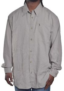 Columbia Mens $60 Athentic Fit Creek Plaid Casual Button Up Shirt Size Large