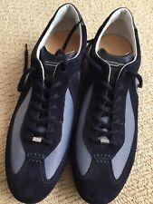 Beautiful Brand New Santoni Blue Sneakers Shoes Sz UK 8,5 EU 42,5