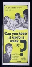 CAN YOU KEEP IT UP FOR A WEEK 1975 Daybill Movie poster