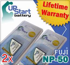 2x Battery for Fujifilm NP-50 FinePix F85EXR F80EXR