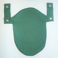 Green Ostomy Colostomy Pouch Bag Cover 2Pc Convatec & Hollister Snaps on Belt