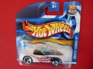 Hot Wheels 2002  #187 Corvette Stingray lll  White  MOC