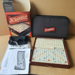 HASBRO SCRABBLE GAME Travel Folio Edition zip up pouch wallet case 100% complete