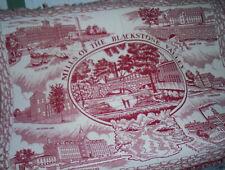 Woven Cotton Throw Blanket Blackstone Mills Ma. Baker's dept. store