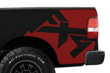Custom Vinyl Graphics Rear Decal FX4 Wrap Kit for Ford Truck F-150 2004-2008 Red