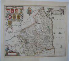 Norfolk Old County Map Johan Blaeu 1648
