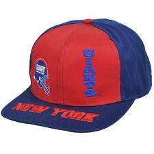 NFL NEW YORK GIANTS OLD SCHOOL SNAP BACK FLAT BILL HAT