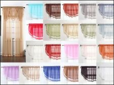 """Sheers Voile Ascot Valance - 60"""" X 24"""" (Panels Sold Separately)"""