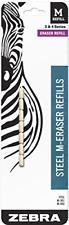 Zebra Steel M Mechanical Technical Pencil Eraser Refills 7 Count