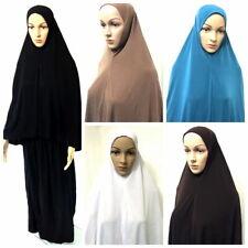 2-tlg Islamische Gebetskleidung Khimar  *Hijab Muslim Islam kaftan Abaya Burka *