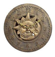 Outdoor indoor Garden Wall Clock 12 inch sun and moon ds1035