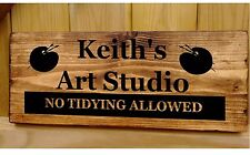 Art Studio Workshop Door Sign Plaque Plate Personalised Painting and Drawing