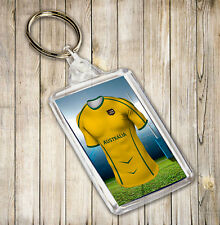 Australia Rugby Themed Keyring- Boys Girls Mens Birthday Gift / Stocking Filler