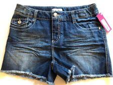 SUMMER SHORTS Denim Blue Size XL (14-16) Girls DAISY DUKE Style SPARKLES NWT