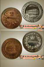 """A Pair of A.N.S. """"Centenary of the Royal Sydney Mint"""" Medallions"""