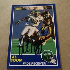 Al Toon VINTAGE HAND SIGNED 1989 Score Card With COA