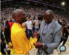 Kobe Bryant & Magic Johnson Bryant's Final NBA Game-Staples Center 8x10 Photo