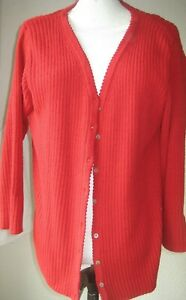 BONMARCHE RIBBED RED CARDIGAN. Cardigan - Size SMALL/Medium  never worn
