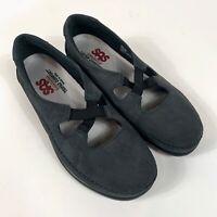 SAS Women's Gray Suede Tripad Comfort Shoes Sz 9.5M Maryjane Slip On Made In USA