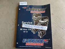 1996 Johnson Evinrude Motor ED 88 90 100 112 115 90' CV Service Manual OEM