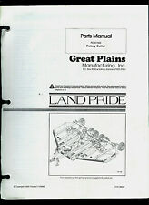 Land Pride Rc45180 Rotary Cutter Original Factory Parts List Amp Owners Manual
