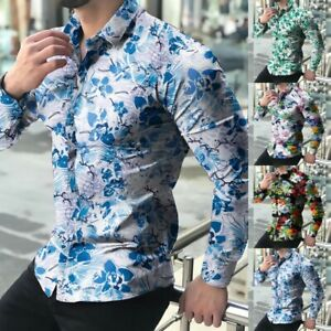 Shirt Tops Button Down Casual Floral Formal Shirts Long Sleeve Durable