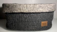 UGG Australia Jade Cove 100% Sheep Wool Felt Charcoal Grey Medium Basket