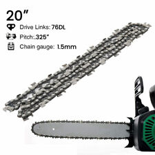 "20"" Chainsaw Saw Chain Blade Semi Chisel Saw Chain .325"" Pitch .058"" Gauge 76DL"