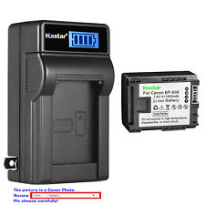 Kastar Battery LCD Wall Charger for Canon BP-808 & Canon VIXIA HF S20 Camcorder