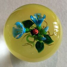 KEN ROSENFELD Lady Bug and Blue Flowers on Yellow Base Brand New!!